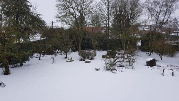 Quand la neige s invite au voutes du plessier - les voutes du plessier